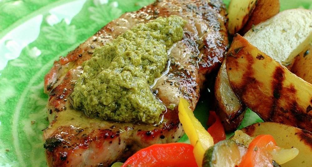 Skinkebiff med Provence-grønnsaker