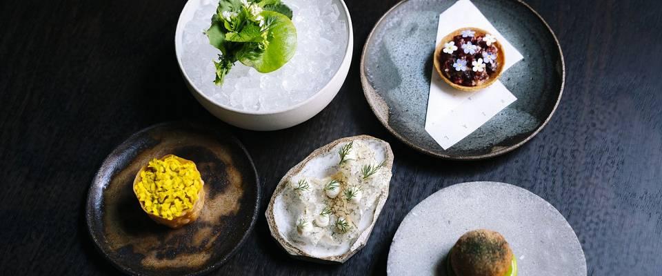 Dette er bare starten på den imponerende menyen du får på The Tea Room i Oslo