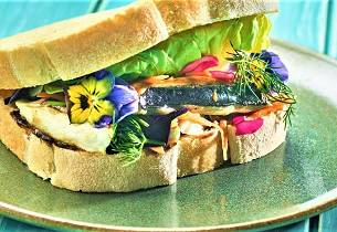 Saba sando - Makrellsandwich på japansk vis
