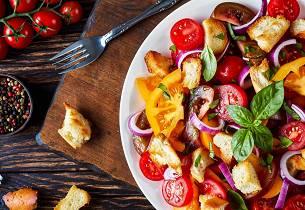 Panzanella - klassisk toscansk brødsalat