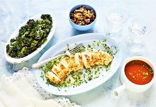 Breiflabb med stekt sopp og rødvinssaus