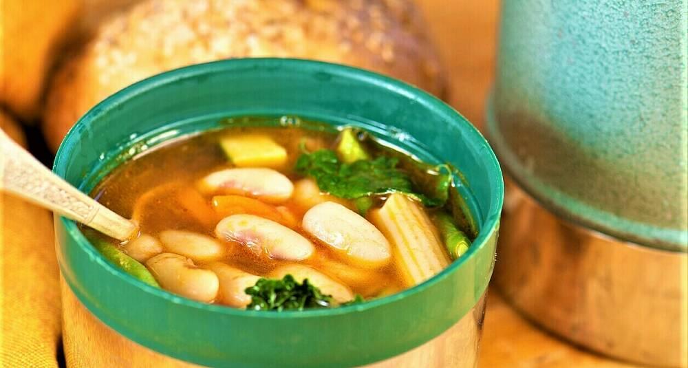 Fyll turtermosen med suppe - maten smaker alltid bedre ute