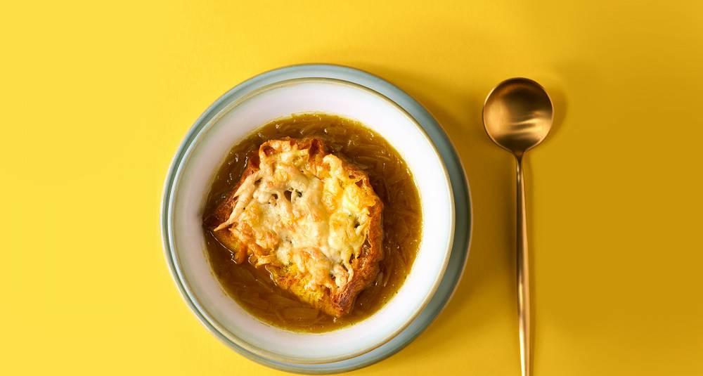 Klassisk fransk løksuppe