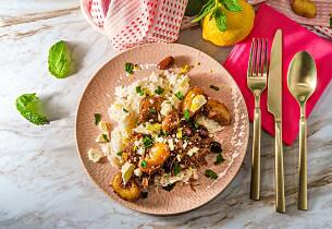 Gresk lammegryte med  mynte, sitron og feta
