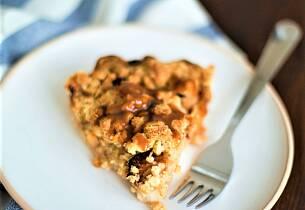 Eple- og karamell-crumble