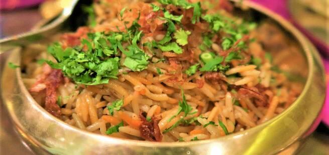 Kylling Biryani Lucknow som i India