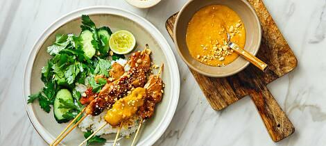 Varm opp til grillsesongen med kylling satay