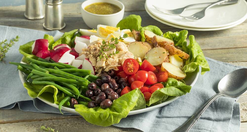 Salade Nicoise med nypoteter
