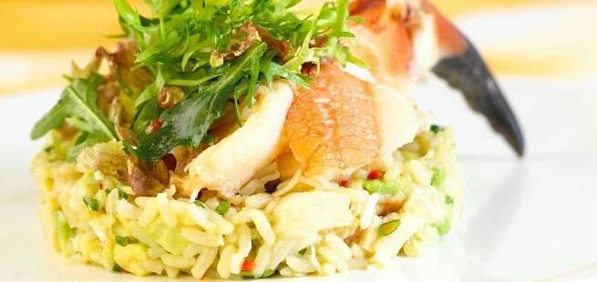 Krabbesalat med ris