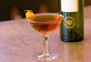 Amargo Encanto drinkoppskrift med sherry og gin