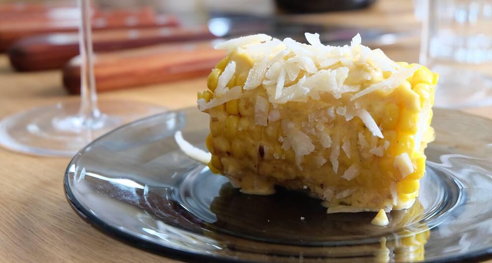 Norsk mais med soppmajones og parmesan