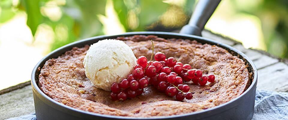 Dessertkaken lager du på grillen eller i stekepannen