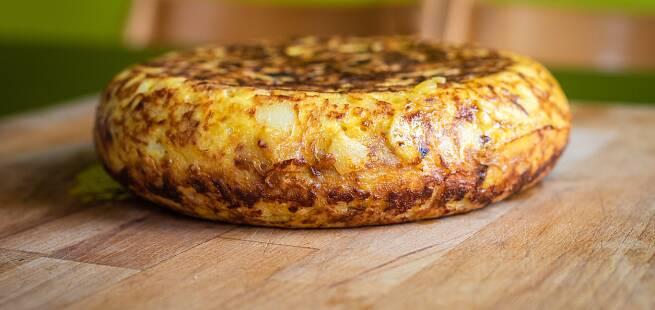 Potet-tortilla  Tortilla de patata som i Spania