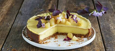 Har du pærer fra hagen, skal du prøve denne ostekaken