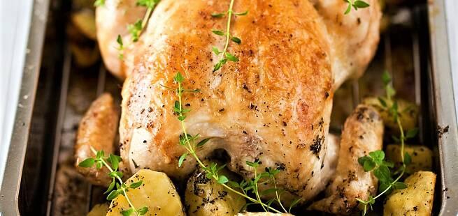 Ovnsstekt kylling med skinke og ferskost - Frango à Beira Alta - som i Portugal